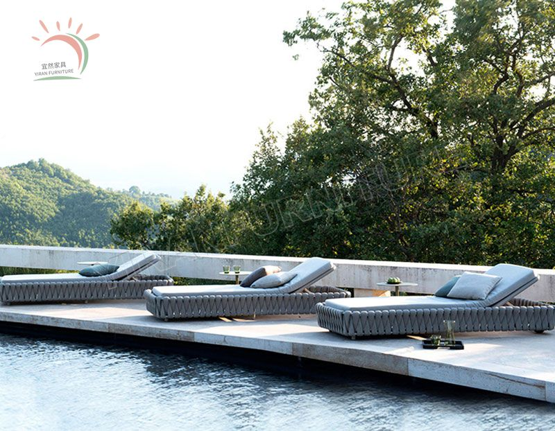 Durable and Fasten Outdoor Rope Lounger from Foshan Manufacturer