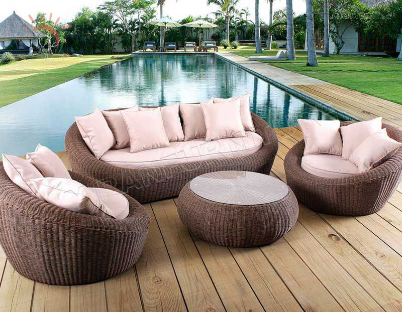 Cheap Wholesale Chaise Lounge Patio Rattan/Wicker Lounge Set Outdoor Furniture