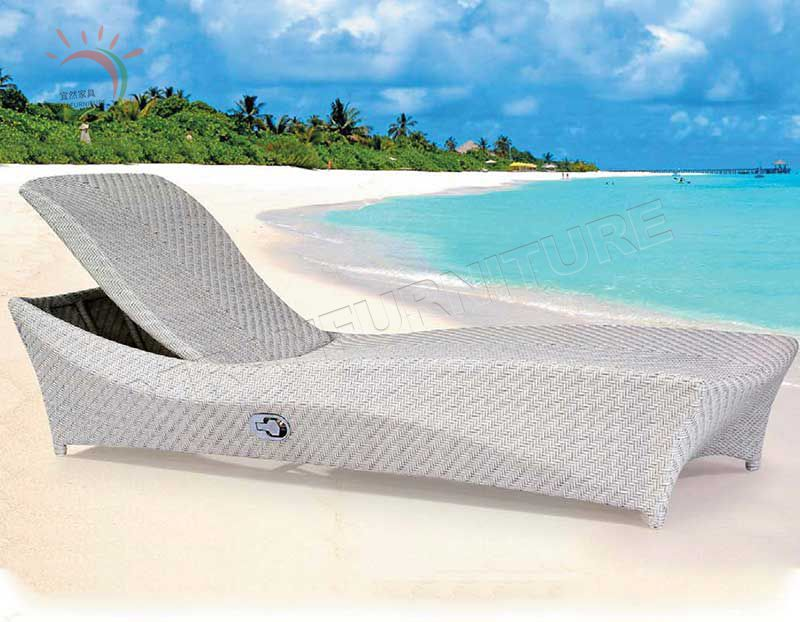 New Designs Aluminum Sun Lounger Beach Chairs Outdoor Chaise Lounge