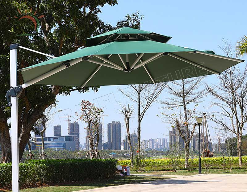 Garden Sunshade Outdoor 10ft Patio Parsaol Square Aluminum Roma Umbrella China Cheap Outdoor Furniture Beach Umbrella