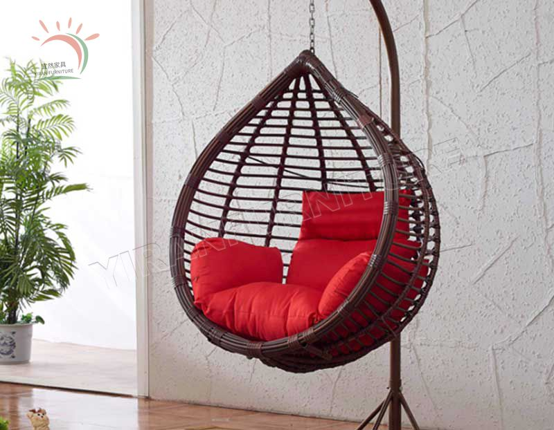 Indoor Rattan Hanging Swing Egg Chair for Living Room