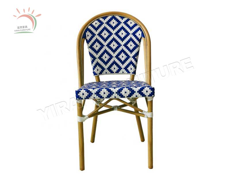 Furniture Chair Outdoor Table Restaurant Dining Set and Legs Tables Cafe Modern Metal French Bistro Sets Rattan Wicker Chairs