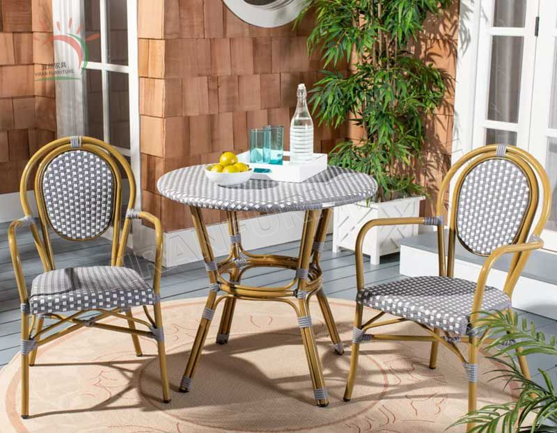 Aluminum Outdoor Relax Dining Rattan Chairs Stacking